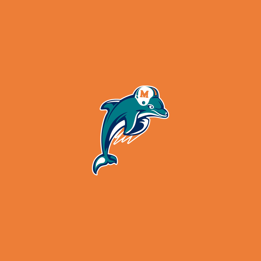 Miami Iphone X Wallpaper Ipad Wallpapers With The Miami Dolphins Team Logos