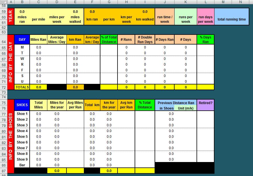 Free Advanced Year Long Excel Running Log \u2013 Digital Citizen