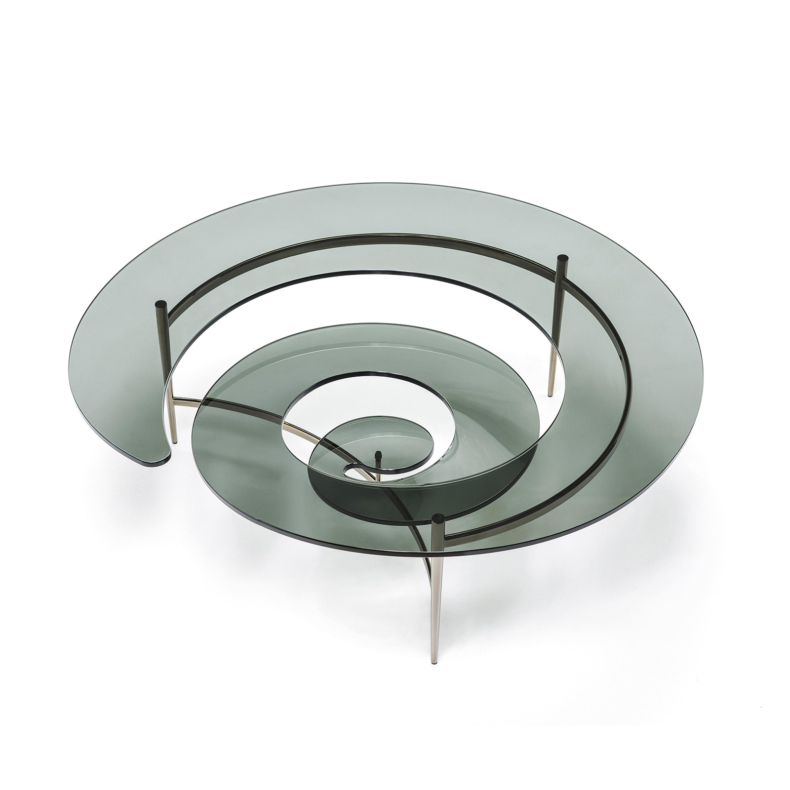 Table Luxe Table Basse Design En Verre Spirale Mobilier De Luxe