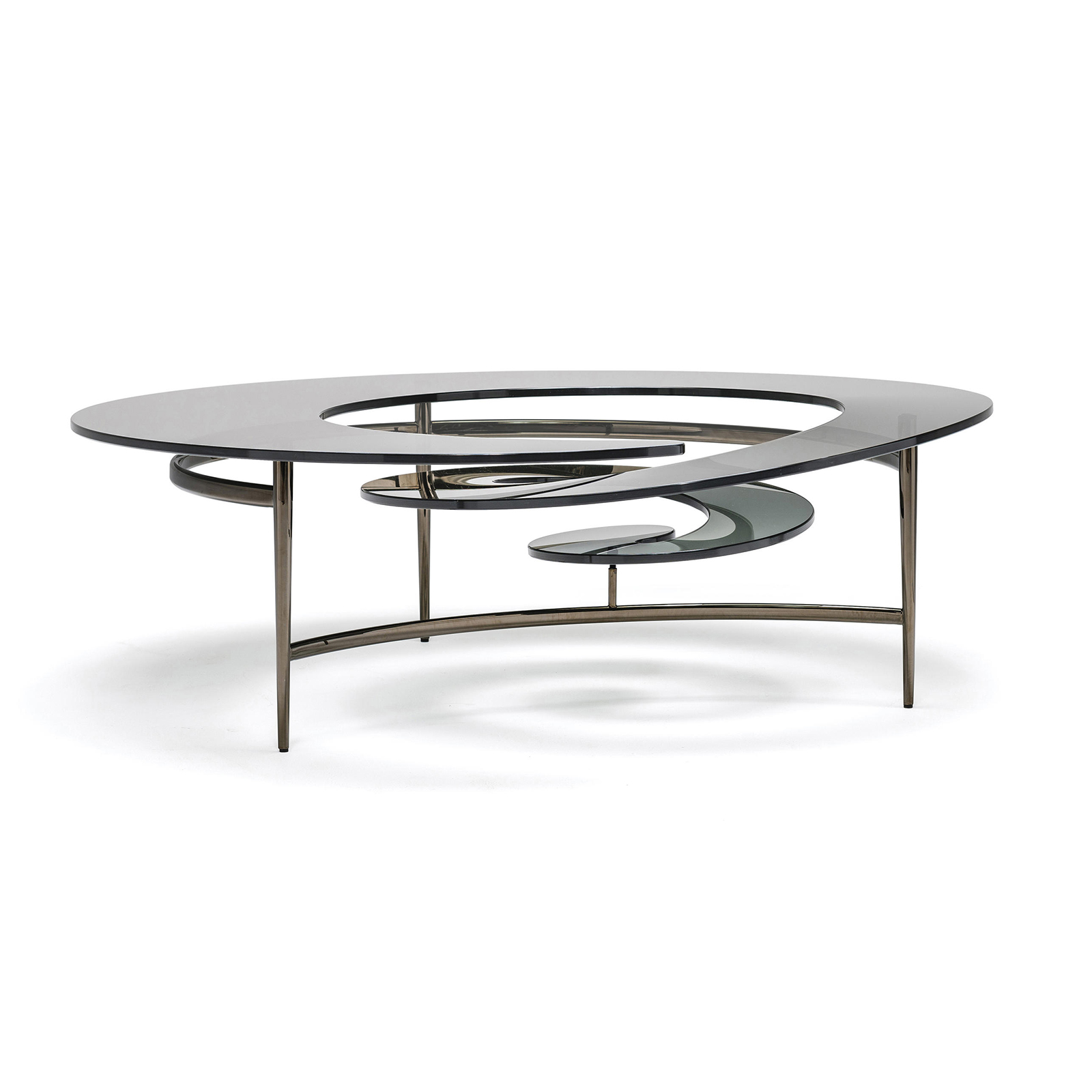 But Table Verre Table Basse Design En Verre Spirale Mobilier De Luxe