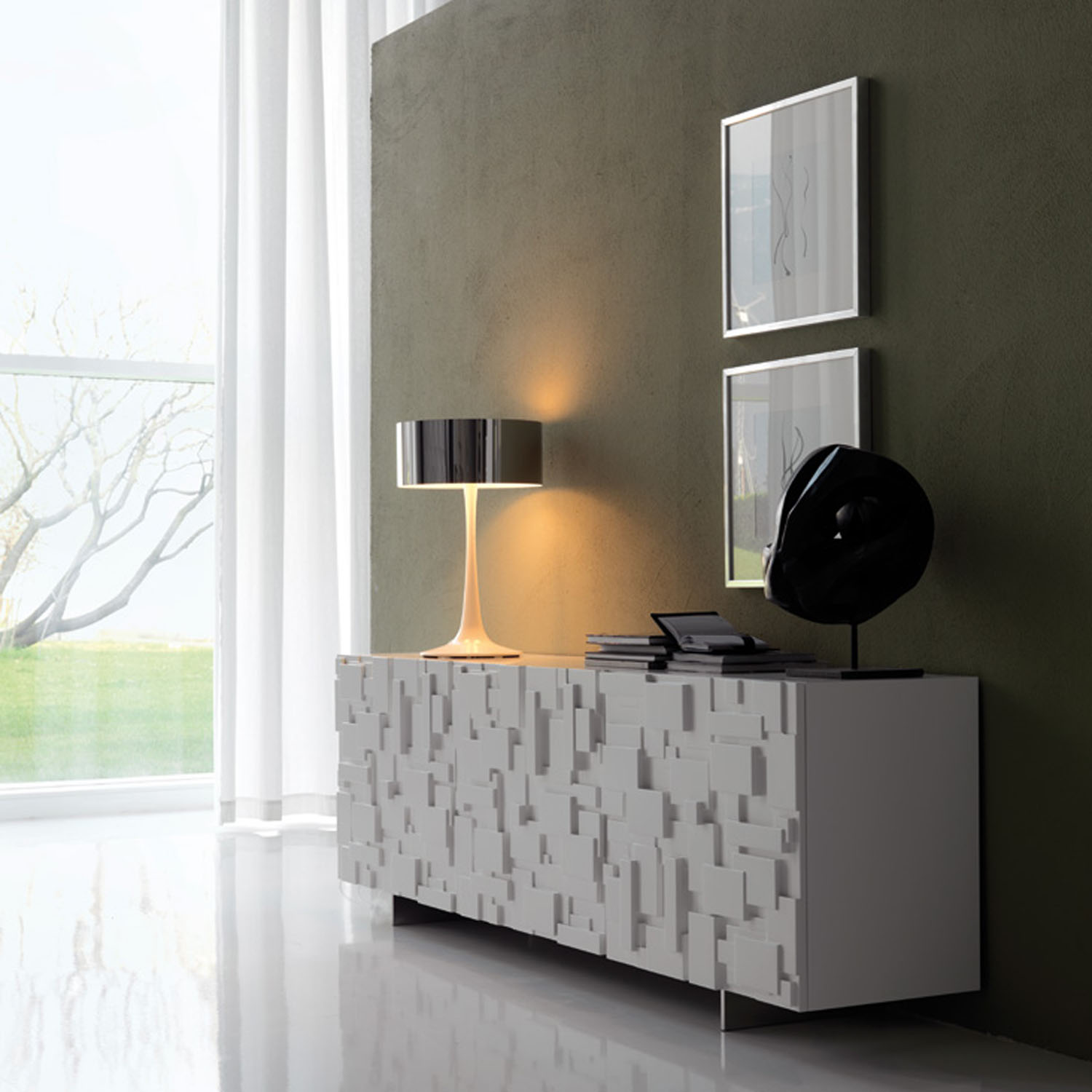 Meuble Haut De Salon Buffet Salon Design En Bois Mondrian Idkrea Collection D Exception