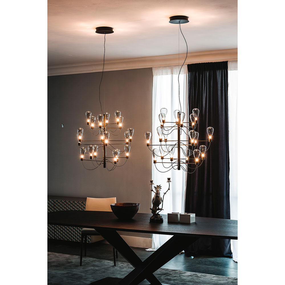 Suspension Contemporaine Suspension Contemporaine Lustre Trident Idkrea Collection D