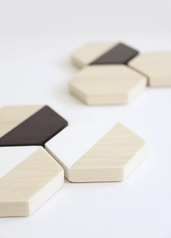 DIY Wood Hexagon Coasters    Jade and Fern