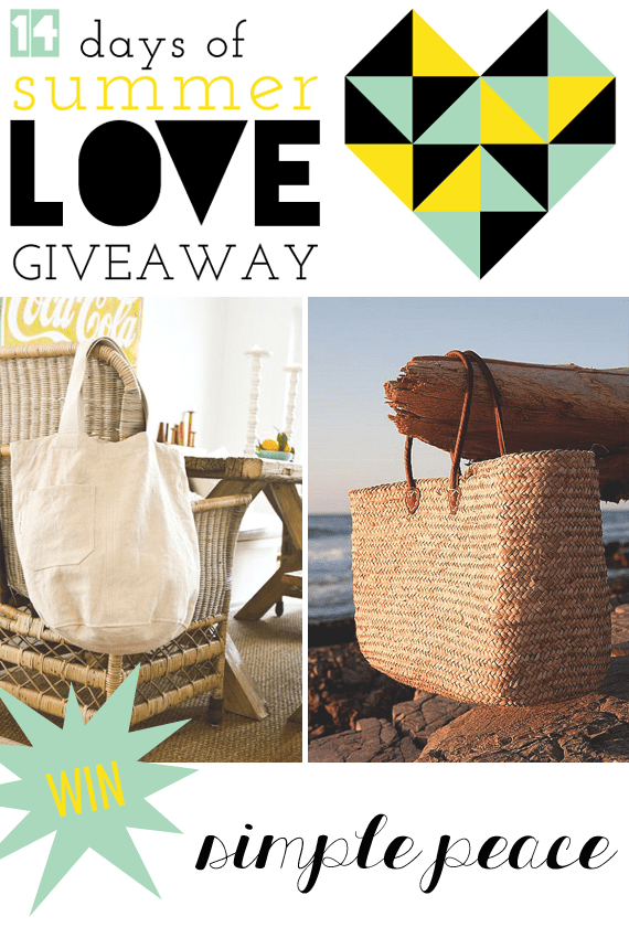 Win Two Bags by Simple Peace via Jade and Fern || #14daysoflove