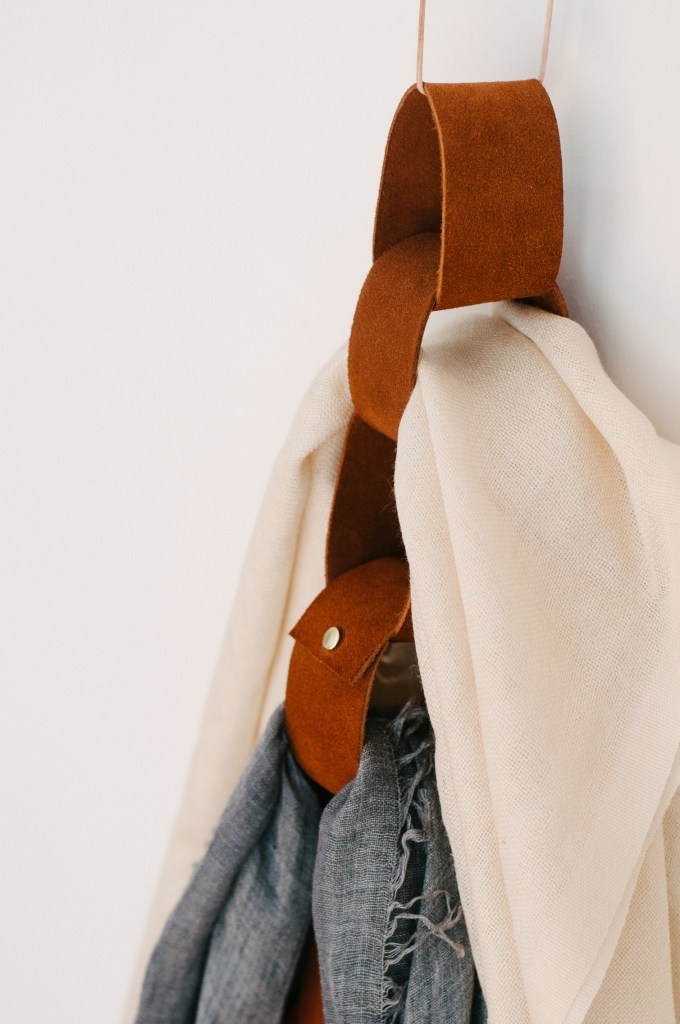 The Clever Bunny leather scarf organizer