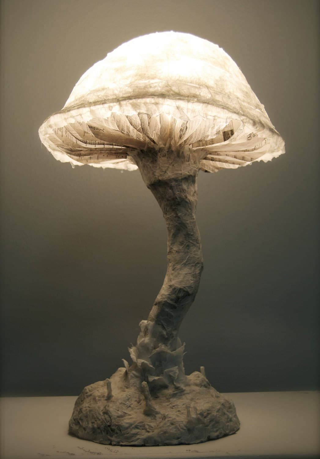 Natural Light Lamp Paper Mache Fungus Mushroom Lamp Id Lights