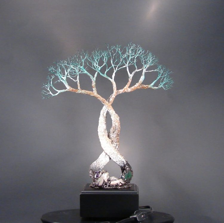 Wire Pendant Light Wire Tree Of Life Lamp - Id Lights