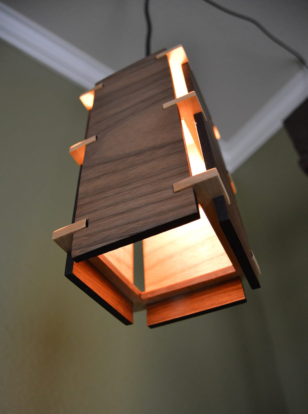Wooden Lighting Pendants Square Wooden Pendant Light Id Lights