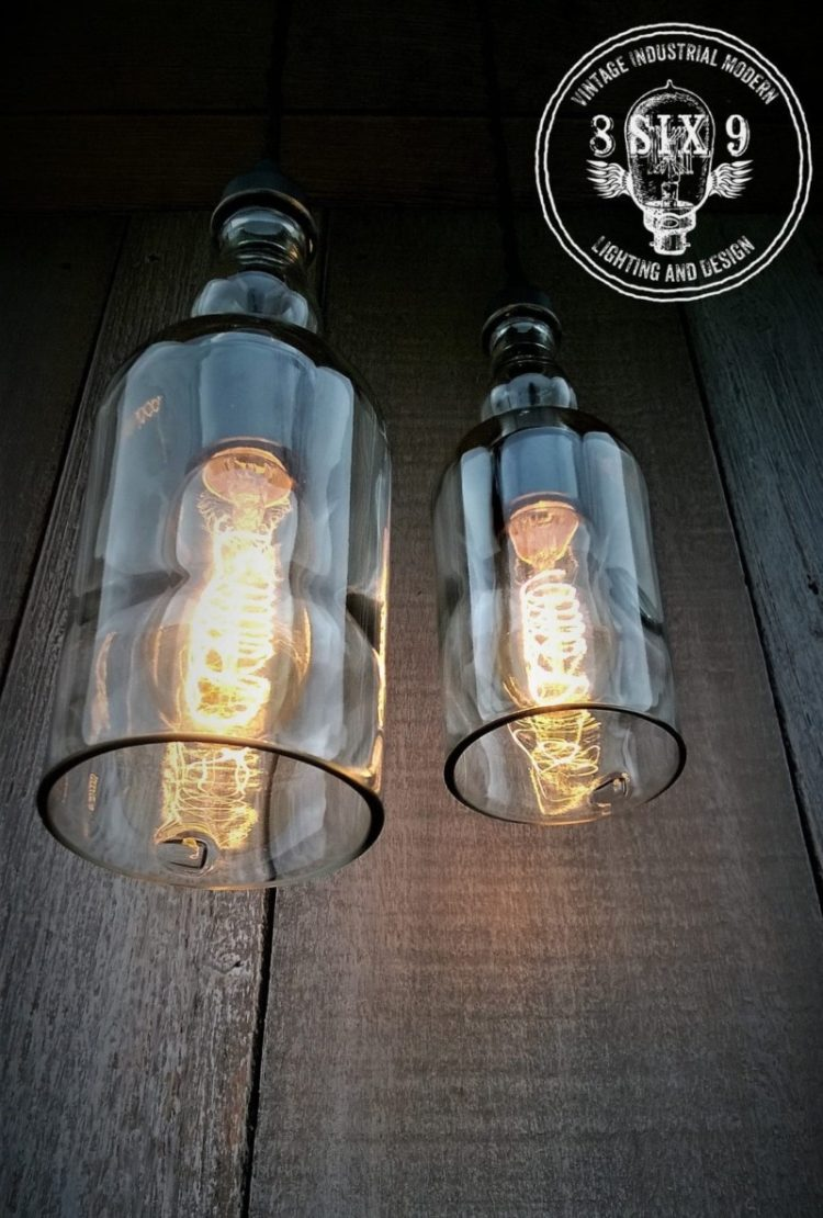 Wire Pendant Light Balvenie Whiskey Bottle Pendant Light Black Series • Id Lights