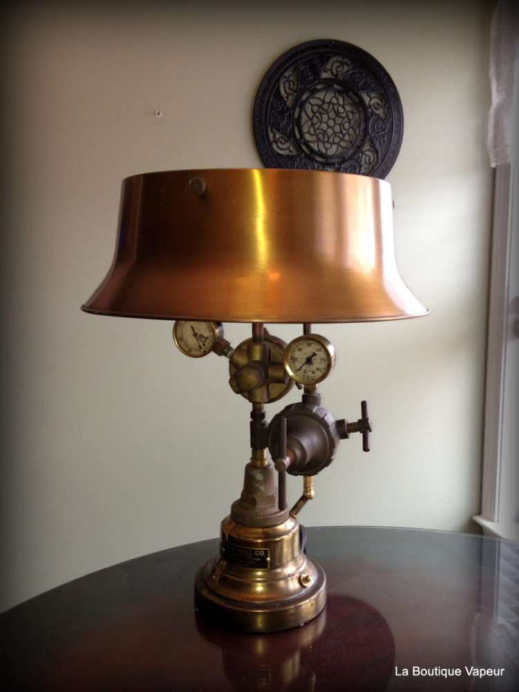 Wood Desk Designs Steampunk Table Lamp Made From Vintage Torch • Id Lights