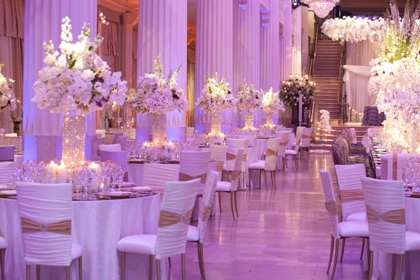 Decoration Salle Mariage Orientale Decor Themes: White & Gold With A Splash Of Purple