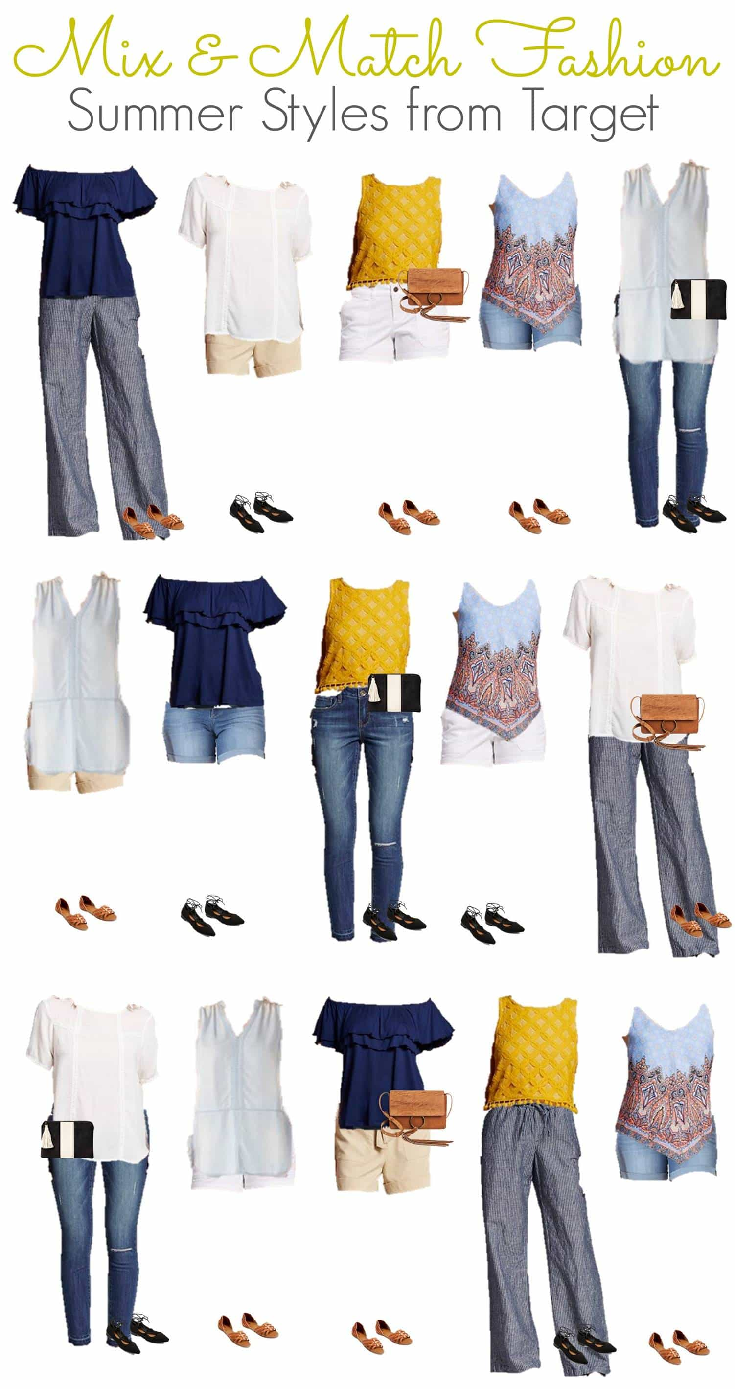 Mix And Match Summer Mix Match Budget Wardrobe From Target I Don T Have