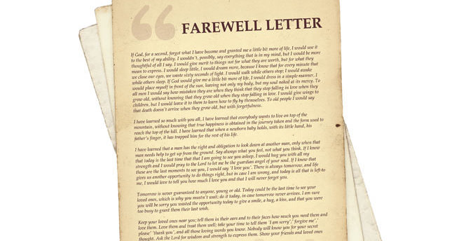 Marquez\u0027s fake farewell letter - Daily Sabah - farewell letter