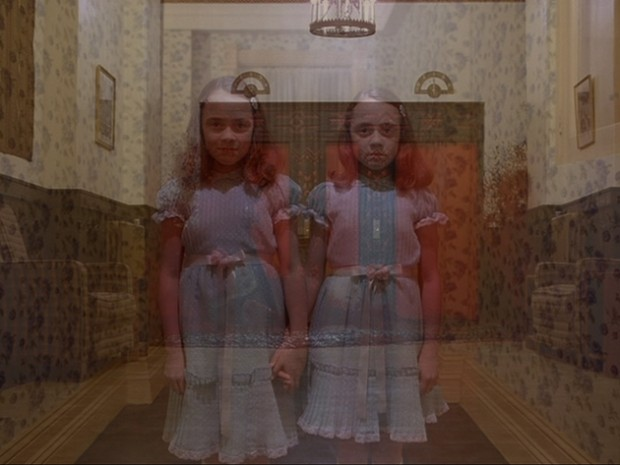 Beautiful Girl Eyes Wallpaper The Shining An Overlay Of The Elevators And The Two Girls