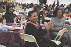 Rialto Mayor Deborah Robertson was among several hosts March 1 at the annual State of Women Conference kicking off Women's History Month.