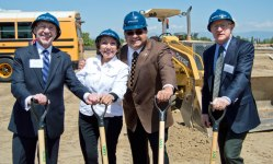 courtesy photo/ofc supervisor josie gonzales&lt;br /&gt;&lt;br /&gt;&lt;br /&gt;&lt;br /&gt;&lt;br /&gt;&lt;br /&gt;&lt;br /&gt;<br /> CEO Greg Devereaux, Sup. Josie Gonzales, Chairman James Ramos, and Related California CEO Bill Witte breakground on Bloomington's mixed-use development April 8.&lt;br /&gt;&lt;br /&gt;&lt;br /&gt;&lt;br /&gt;&lt;br /&gt;&lt;br /&gt;&lt;br /&gt;<br /> The project will house a county library and a three-story residential building with 106 affordable housing units.