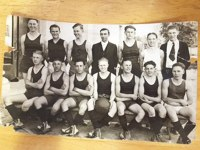 Photo/SBHS Tyro circa 1923<br /><br /><br /><br /><br /><br /><br /><br /><br /><br /><br /><br /> Norman Haydis (second from bottom left) led San Bernardino High School to first of eight straight CBL championships.