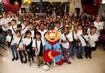 Photos courtesy SB County DA's Office 200 second- and fifth-graders graduated from the San Bernardino County District Attorney's Office Gang Resistance Intervention Partnership (GRIP) on Friday, May 15 at Hunt Elementary School in San Bernardino.  After the graduation, students were treated to a surprise visit and photo session with Inland Empire 66ers mascot Bernie.