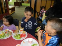 courtesy photo/healthy yummy for my tummy<br /> Healthy Rialto Kids taste healthy food options available at Café &amp; Deli El Rancho as part of the Healthy Yummy for My Tummy food program.