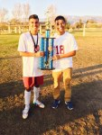 Photo Courtesy/Carlos Aguirre Garcia Carlos Aguirre Garcia (Left) with teammate Ismael Campos after Indian Springs High School won the 2015 San Gorgonio HS soccer tournament.