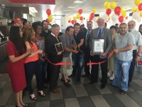 courtesy photo/rusd Rialto city and school district officials welcome Tacos El Gavilan to Rialto during a ribbon cutting July 23.