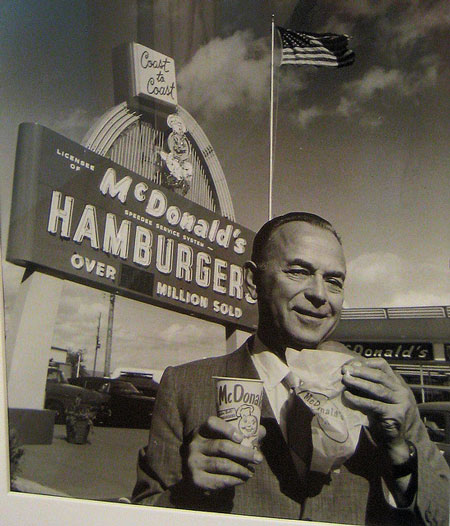 Why was fast food developed in the inland empire of california?