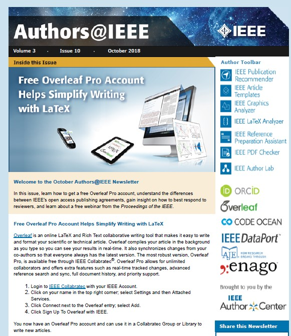 About the IEEE Monthly Newsletter - IEEE Author Center