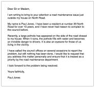 IELTS General Writing: 'local problem' letter - ielts ...