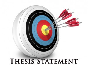arrows in a target with Thesis