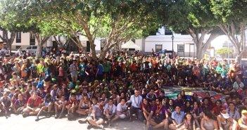Скауты со всей Испании съехались в Arona, для восстановления окружающей среды муниципалитета