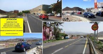 Коммюнике для водителей: в San Miguel de Abona шоссе TF-652 будет перекрыто полностью на несколько дней