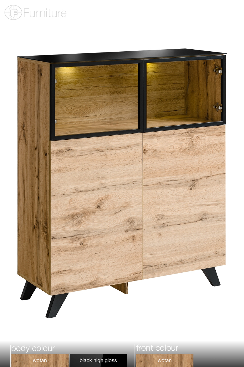 Highboard Tv Highboard Cabinet Sideboard Cupboard Commode Thin Free P P Led