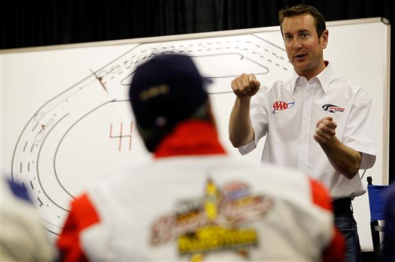 Where will Kurt Busch race in 2012