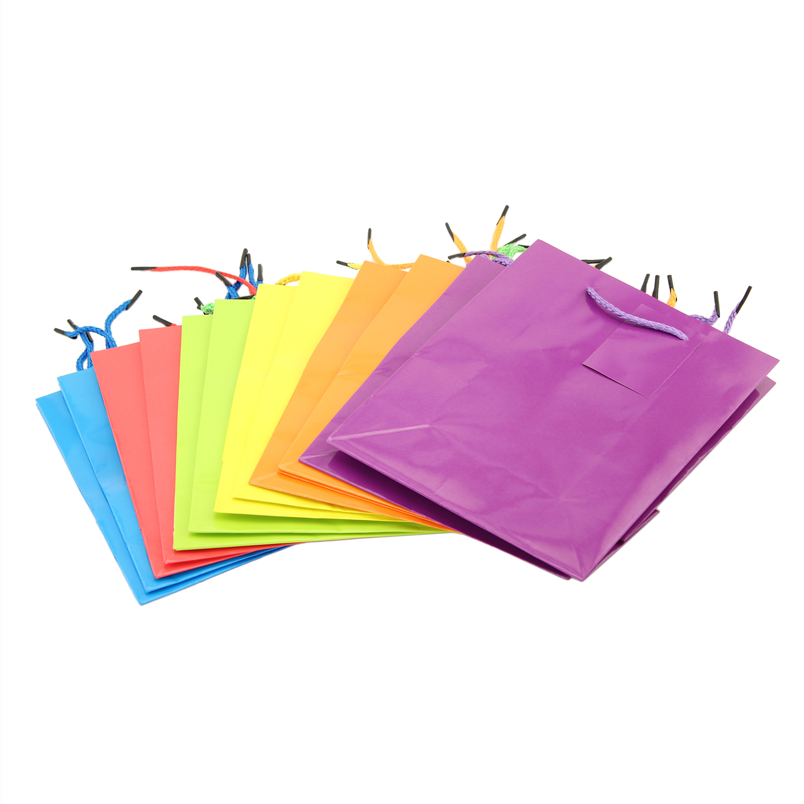 Paper Gift Bags 12 Bright Neon Colorful Party Gift Bags Paper Bags
