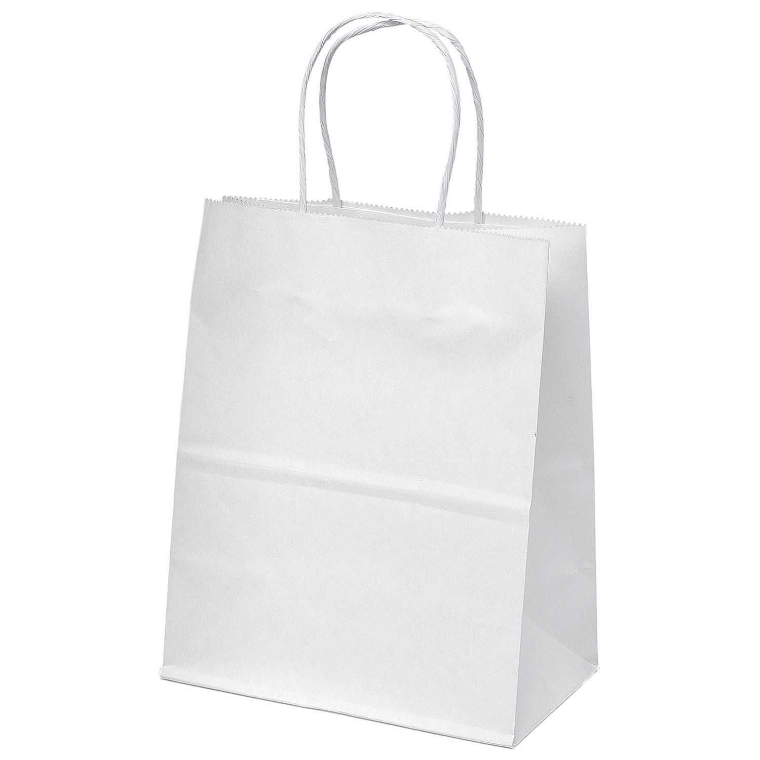 Paper Gift Bags White Kraft Paper Bags Merchandise Shopping Party Favor
