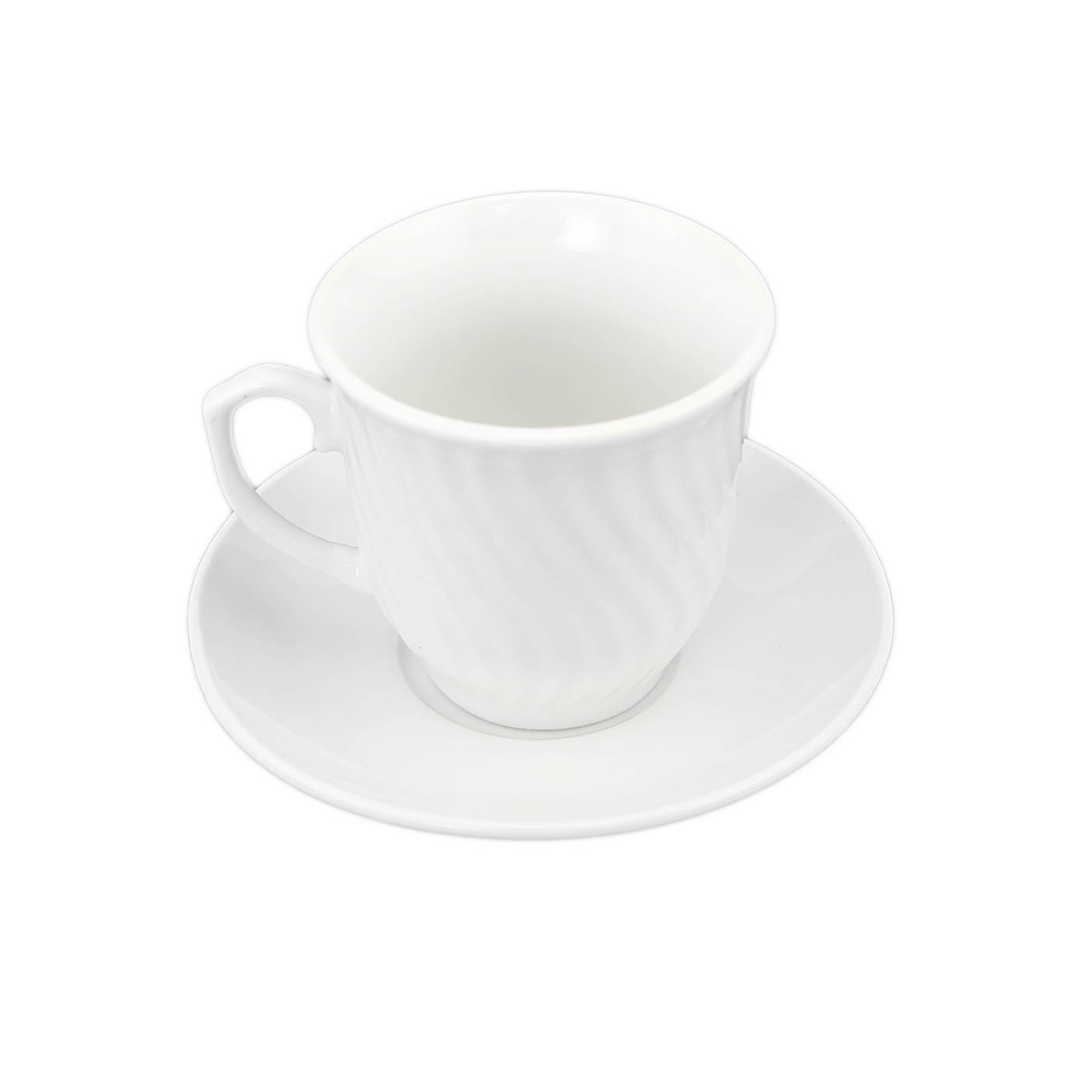 White Ceramic Coffee Cups Set Of White Porcelain 6 Coffee Cups And 6 Saucers Wave