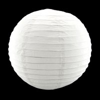 12 Inch White Round Paper Lantern Lamp Shade Party Home ...