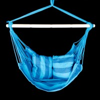 Patio Swing Hanging Rope Chair Seat Blue/Teal Outdoor ...