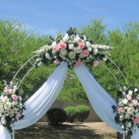 7.5ft White Metal Arch Wedding Garden Bridal Party ...