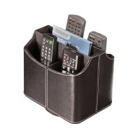 Spinning Media Storage Faux Leather Remote Control ...