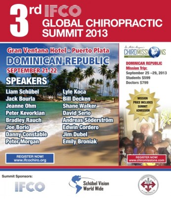 IFCO 2013 Global Chiropractic Summit 