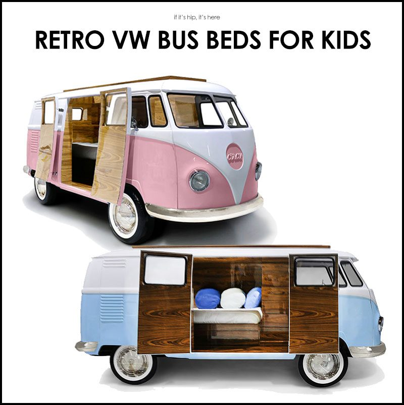 Freedom Retro Sofa Limited Edition Retro Vw Bus Bed For Kids In Blue Or Pink