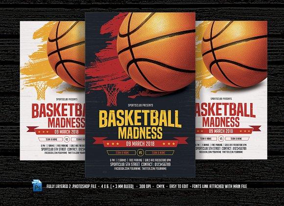 Basketball Madness Flyer - iFontsxyz - basketball flyer example