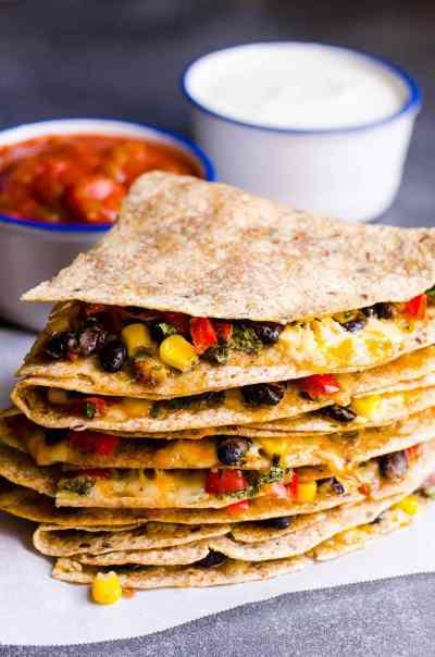 Vegetarian Quesadilla Recipe - iFOODreal - Healthy Family Recipes