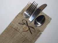 Custom Wedding Accessories: Rustic Burlap Silverware ...