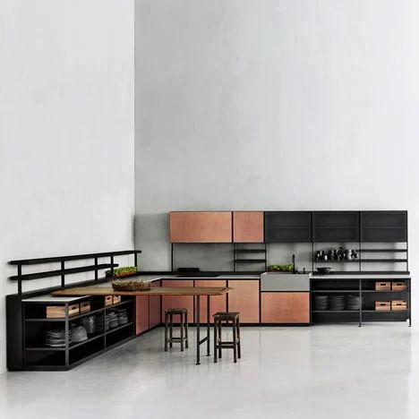 Patricia urquiola s salinas kitchen system for boffi hides