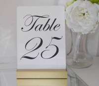 Custom Wedding Accessories: Table Numbers - Gold Wedding ...
