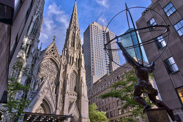 Atlas and Cathedral 800px-NYC_-_St_Patrick_Cathedral_-_Facade_and_Atlas
