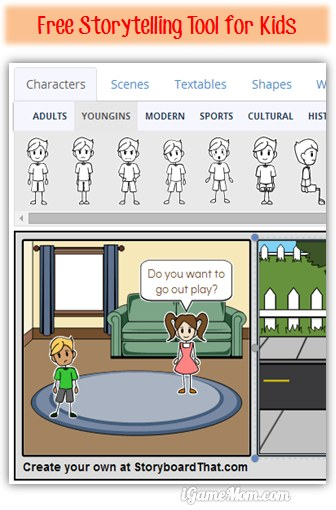 Free Wonderful Storytelling Tool for Kids - Storyboard That - interactive storyboards
