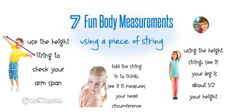 Fun Body Measurement Activities with a Piece of String